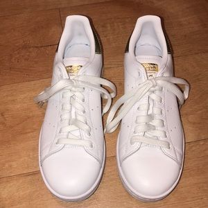 Adidas Stan Smith White & Gold Sneakers